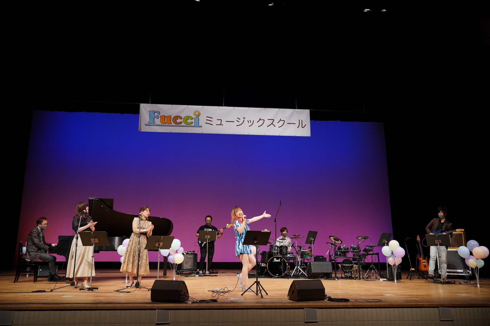 Fucciミュージックスクール発表会講師バンド